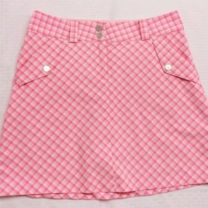 Nike Golf DriFit Plaid Skort pink/white